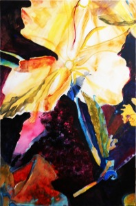Freeform interpretation of Winter rose